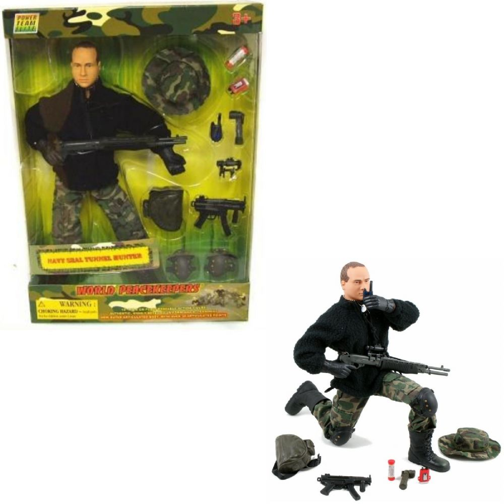 World Peacekeepers 12in Poseable Army Action Figure Navy Seal Tunnel Hunter 3+Yr